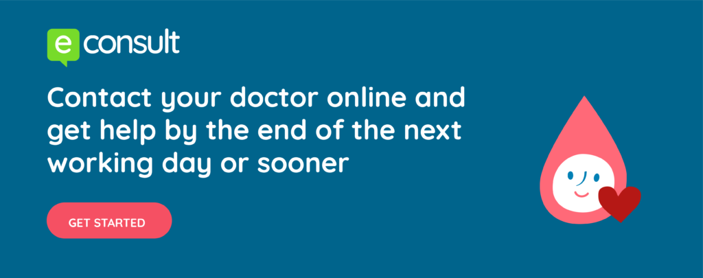 Contact your doctor online and get help by the end of the next working day or sooner get started