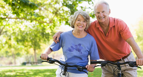 older couple cyclings